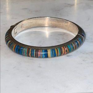 Jay King Rainbow Calsica Sterling Silver Bracelet